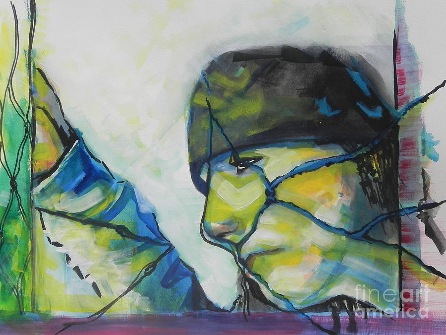 Watercolor Painting Painting - What Lies Ahead Series... The Lows by Chrisann Ellis