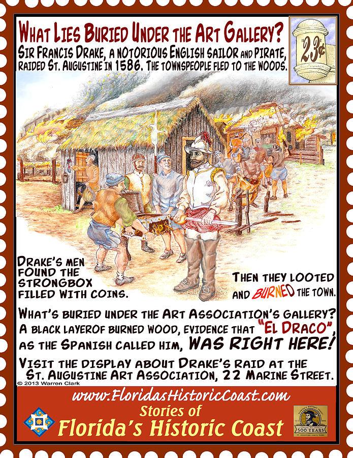 St. Augustine Mixed Media - What Lies Buried Under The Art Gallery? by Warren Clark