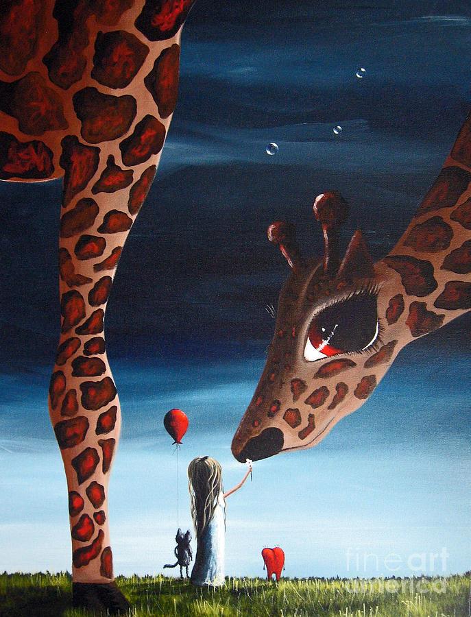Big Eye Painting - What Matters Most By Shawna Erback by Shawna Erback
