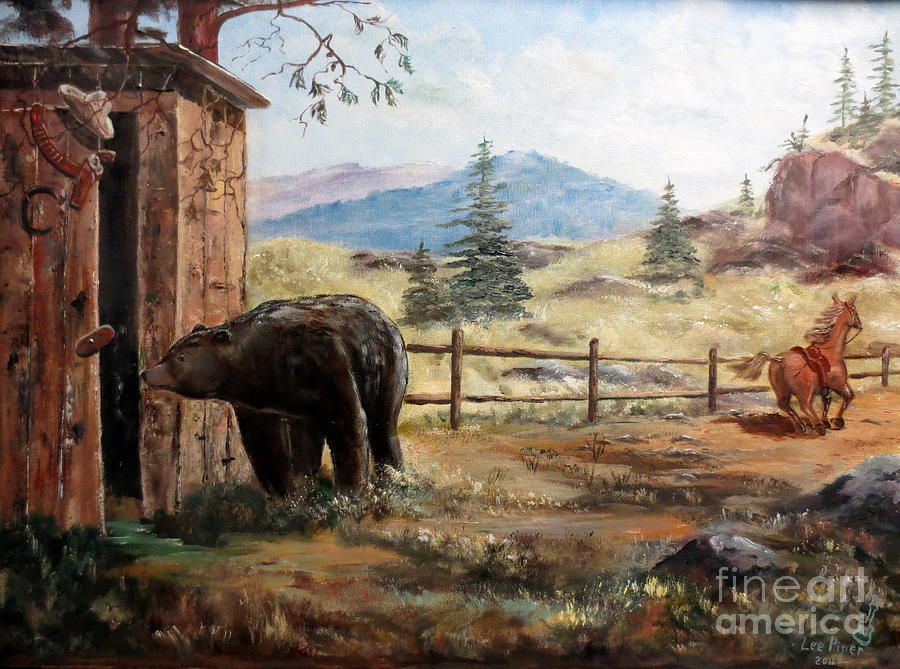 Bear Painting - What Now by Lee Piper