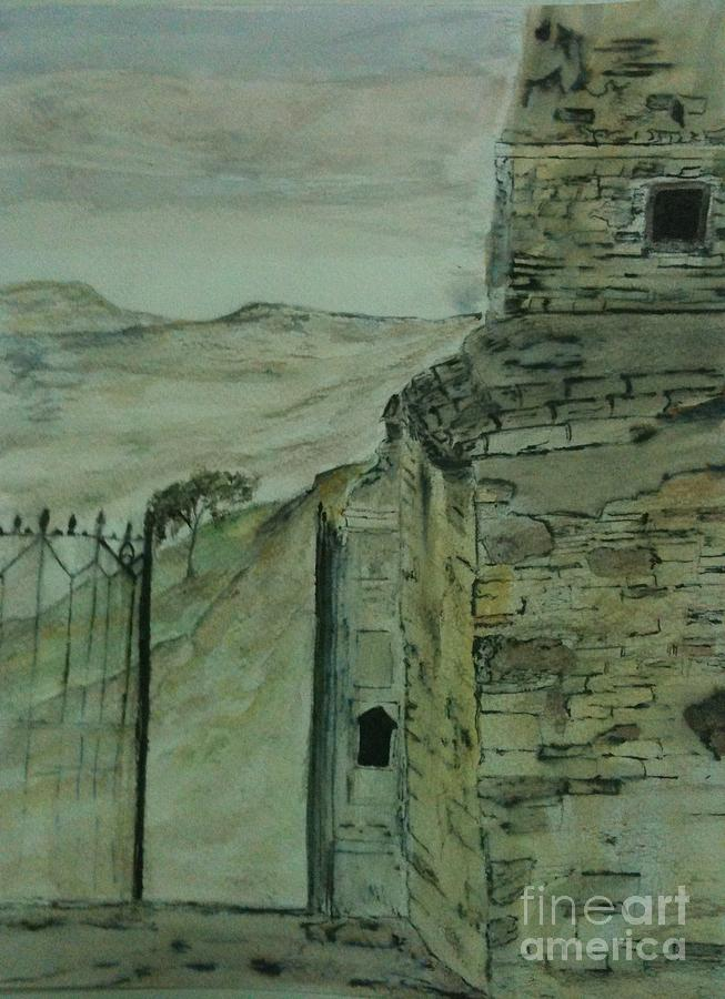 Watercolor Painting - What Remains by Nicla Rossini