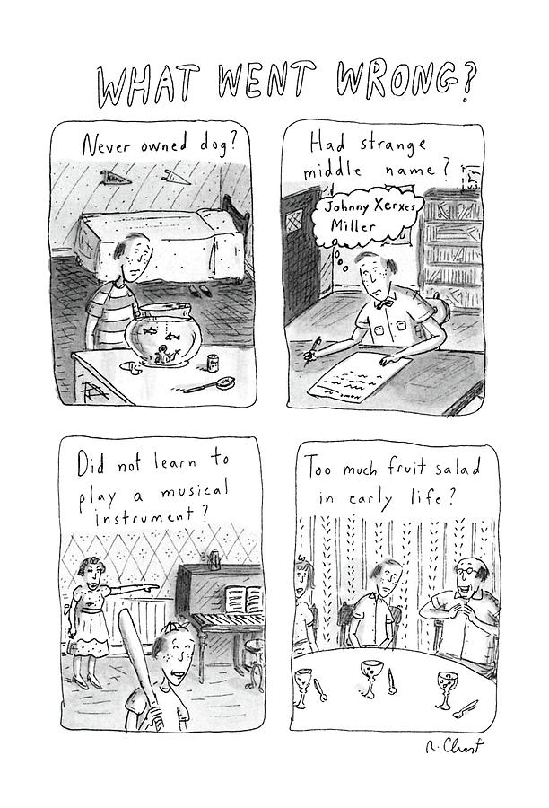 Family Drawing - What Went Wrong? by Roz Chast
