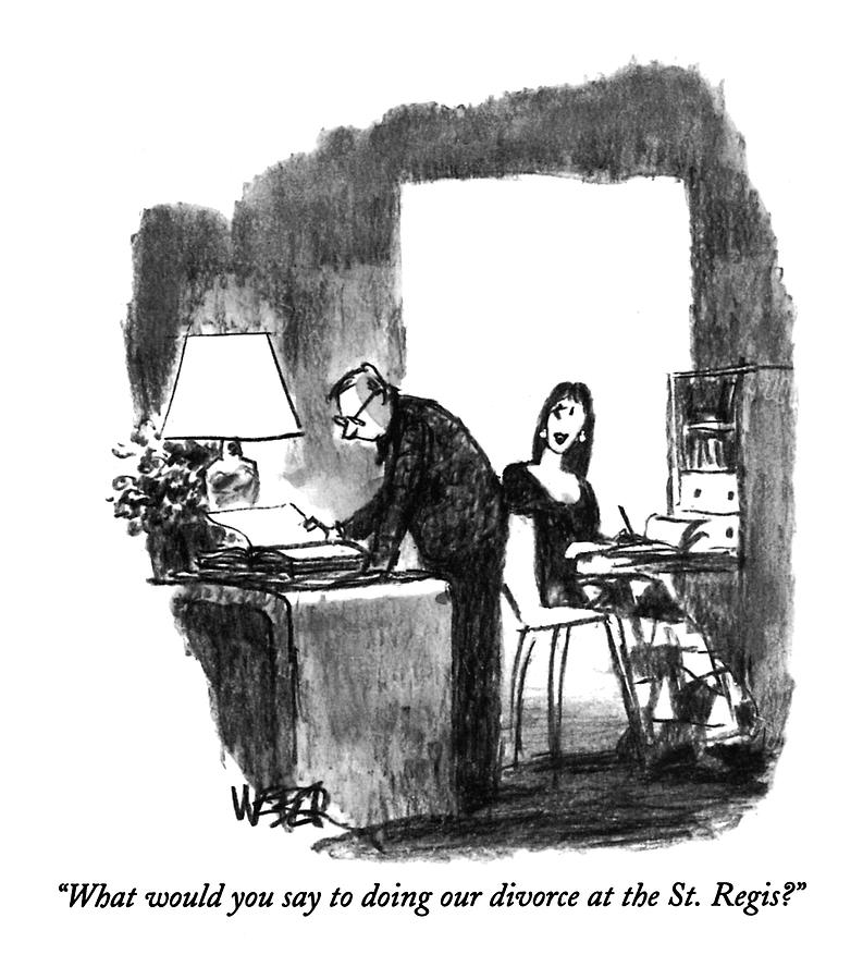 What Would You Say To Doing Our Divorce Drawing by Robert Weber