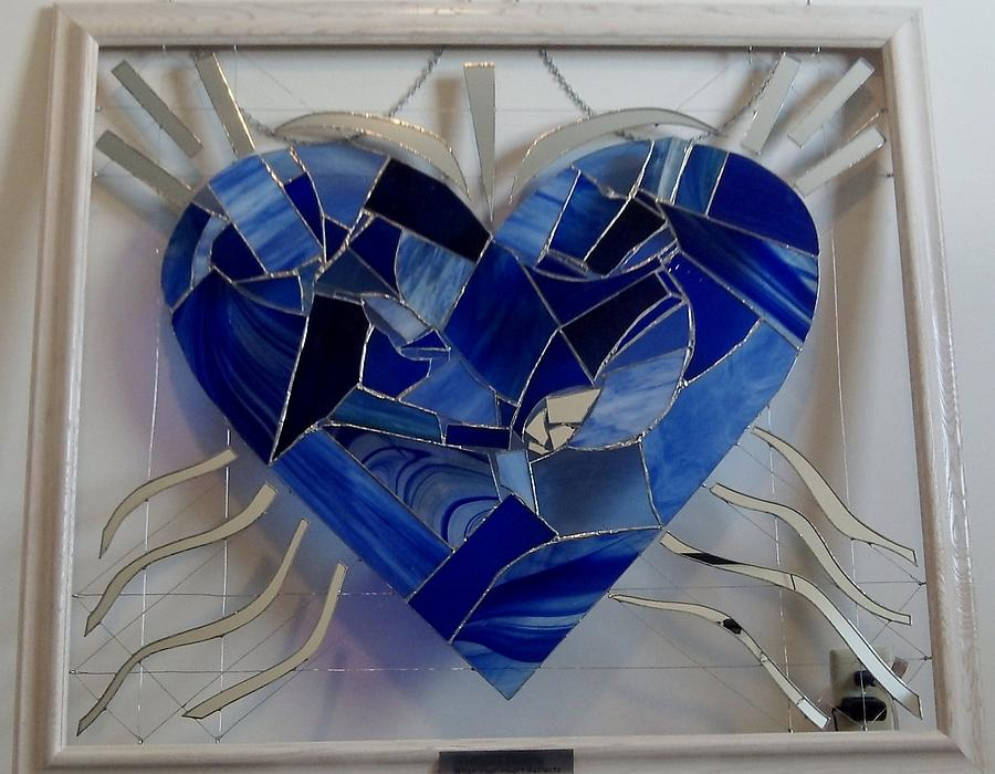 Stained Glass Art - What Your Heart Reflects by Daryl Lee