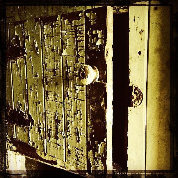 Urbex Photograph - Whats Behind Decrepit Door #1? by Jan Pan
