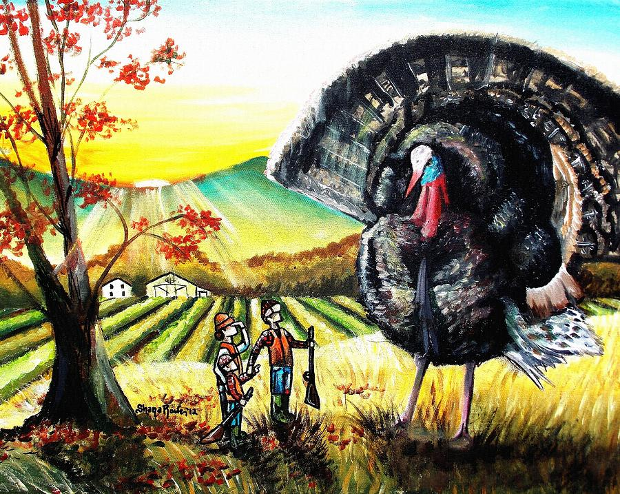 Thanksgiving Painting - Whats For Dinner? by Shana Rowe Jackson