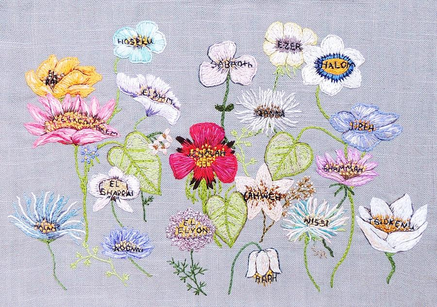 Flower Tapestry - Textile - Whats In A Flower by Stephanie Callsen
