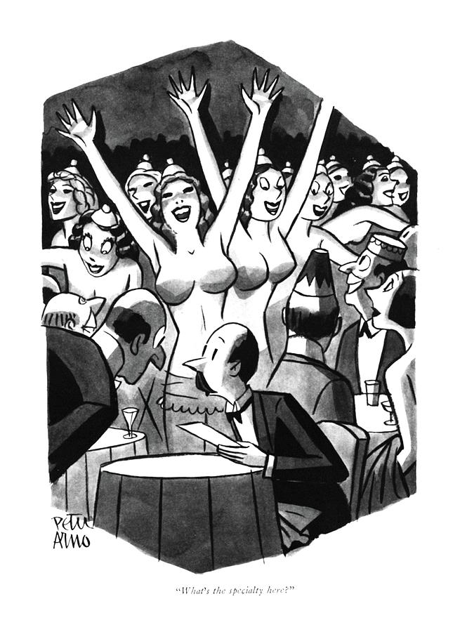Whats The Specialty Here? Drawing by Peter Arno