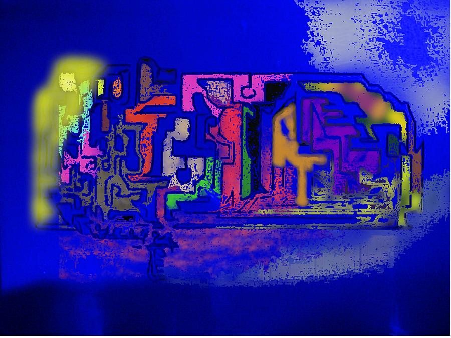 Blue Digital Art - Whats Up Joe by Gregory Steward