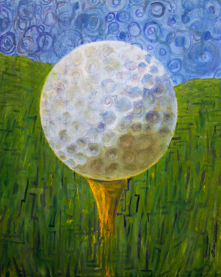 Golf Painting - Whats Your Handicap? by Alan Schwartz