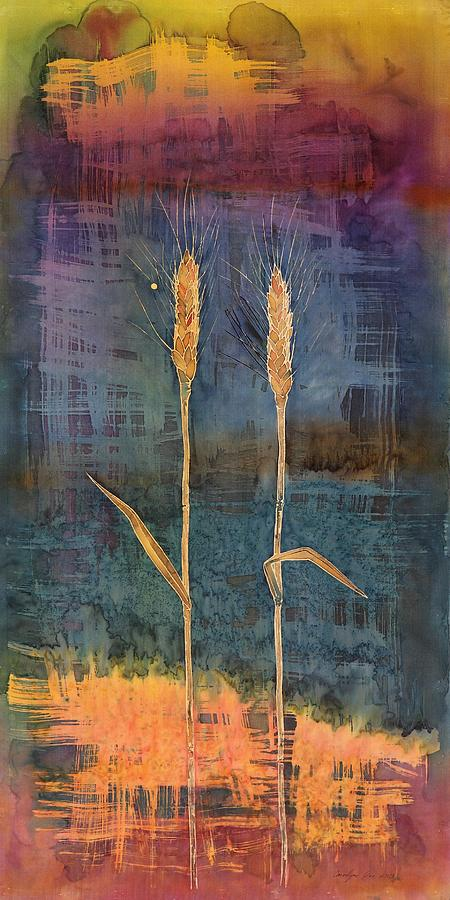 Wheat Tapestry - Textile - Wheat Couple by Carolyn Doe