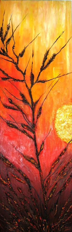 Landscape Paintings Painting - Wheat by Doris Cohen