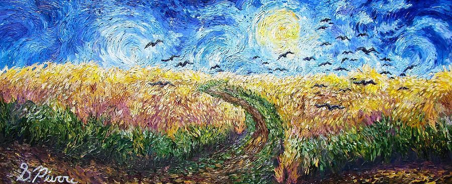 Wheat Field Painting by Sebastian Pierre
