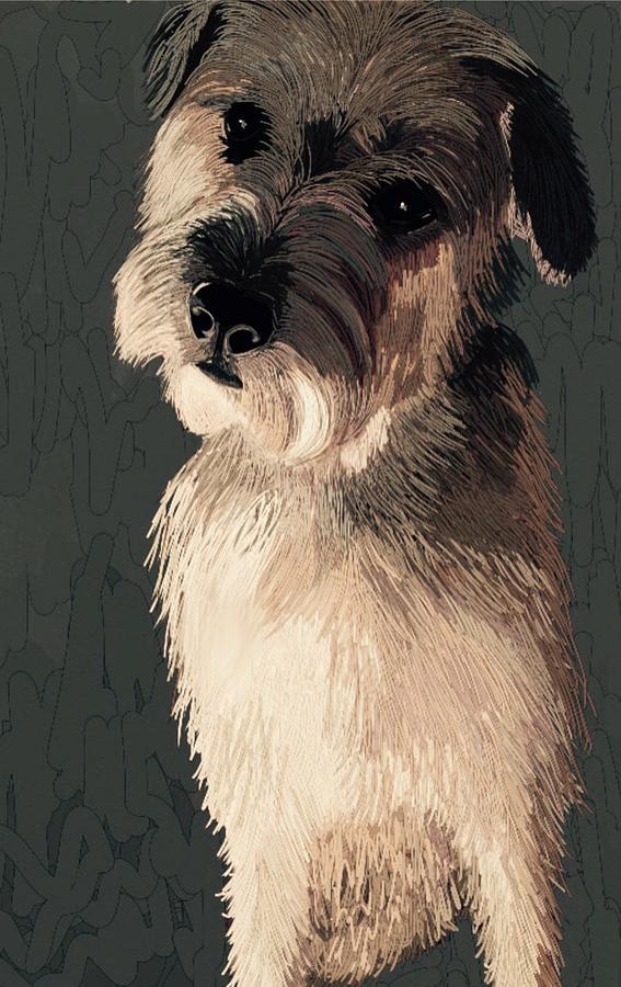 Wheaten Terrier Art Painting