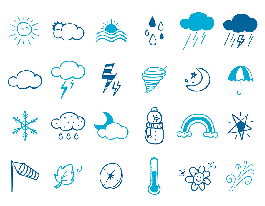 Wheater Icon Set Digital Art by Eastnine Inc.