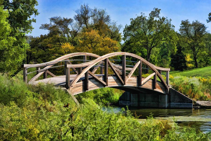 Wheaton Painting - Wheaton Northside Park Bridge by Christopher Arndt