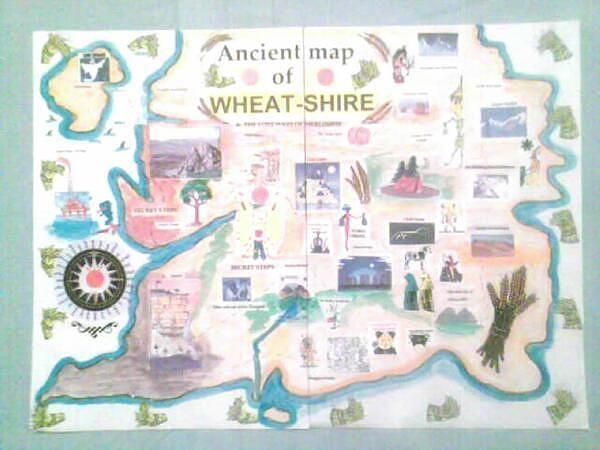 Wheatshires Aincient Map Digital Art by George Vernon