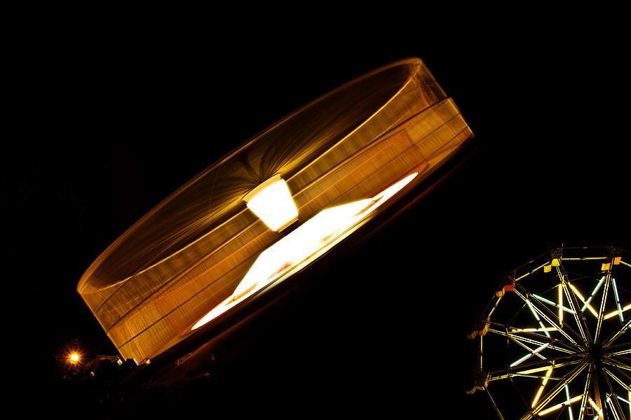 Amusement Parks Photograph - Wheeeeeeeeeeeee......... by David Simons