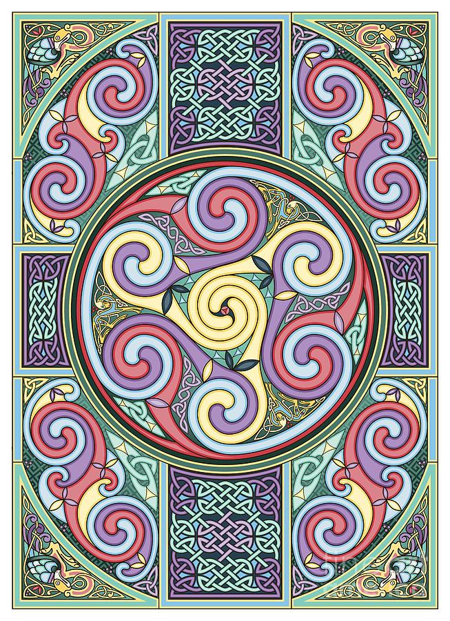 Celtic Painting - Wheel Of Celtia by Cari Buziak