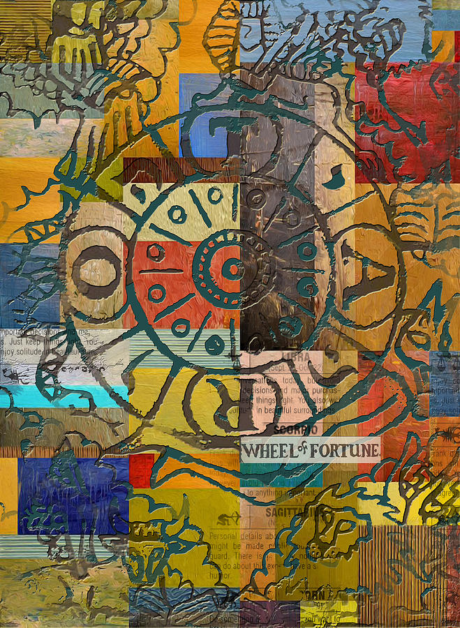 Tarot Painting - Wheel of Fortune by Corporate Art Task Force