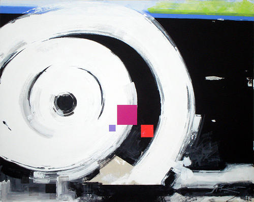 Abstract Painting - Wheel Of Fortune by Jean Pierre Rousselet