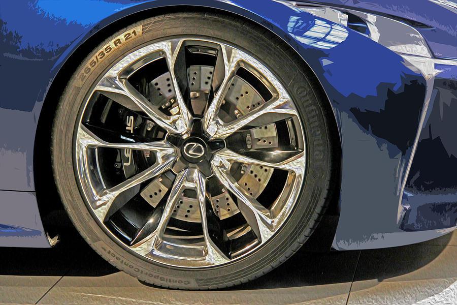 Lexus Photograph - Wheel Of The Future by Tom Gari Gallery-Three-Photography