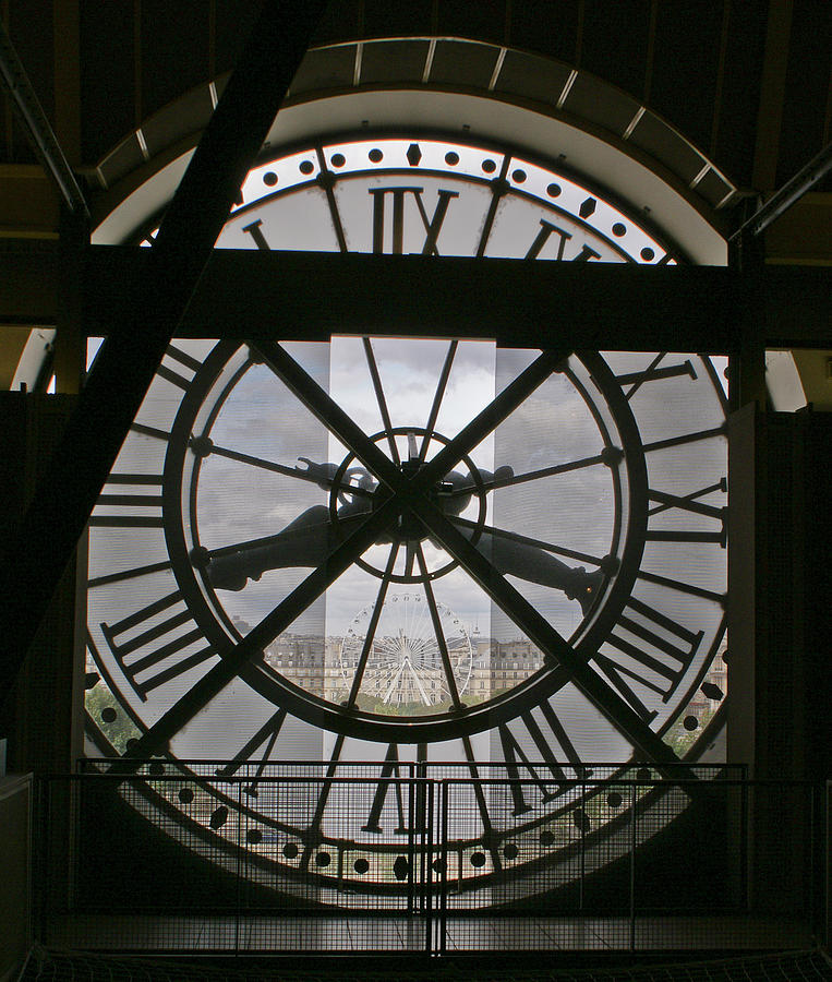 Clock Face Photograph - Wheels Within Wheels by Gary Eason