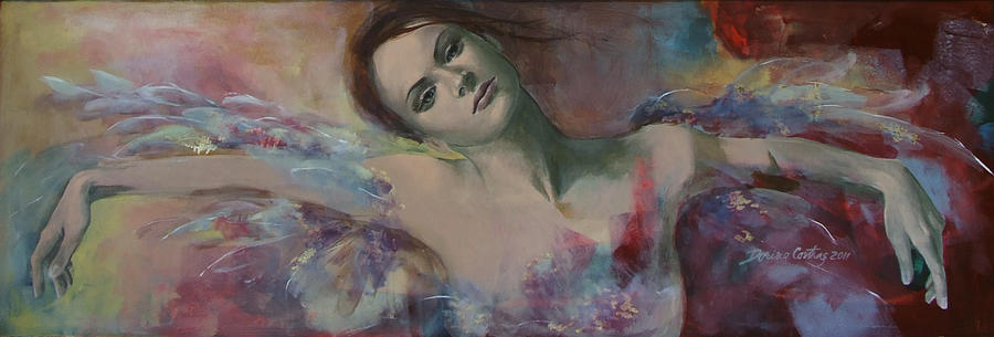 Fantasy Painting - When A Dream Has Colored Wings by Dorina  Costras