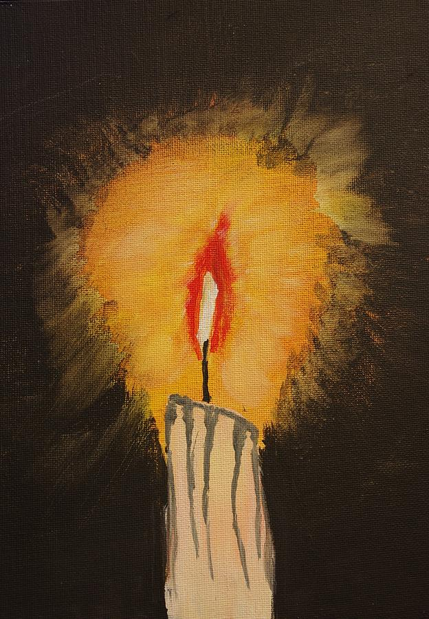 Candle Painting - When All Other Lights Have Failed by Keith Nichols