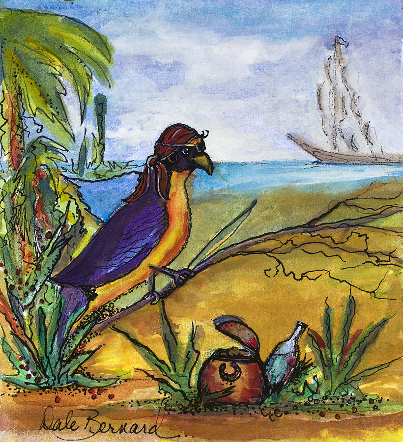 Violaceous Euphonia Painting - When Birds Of Paradise Go Bad by Dale Bernard