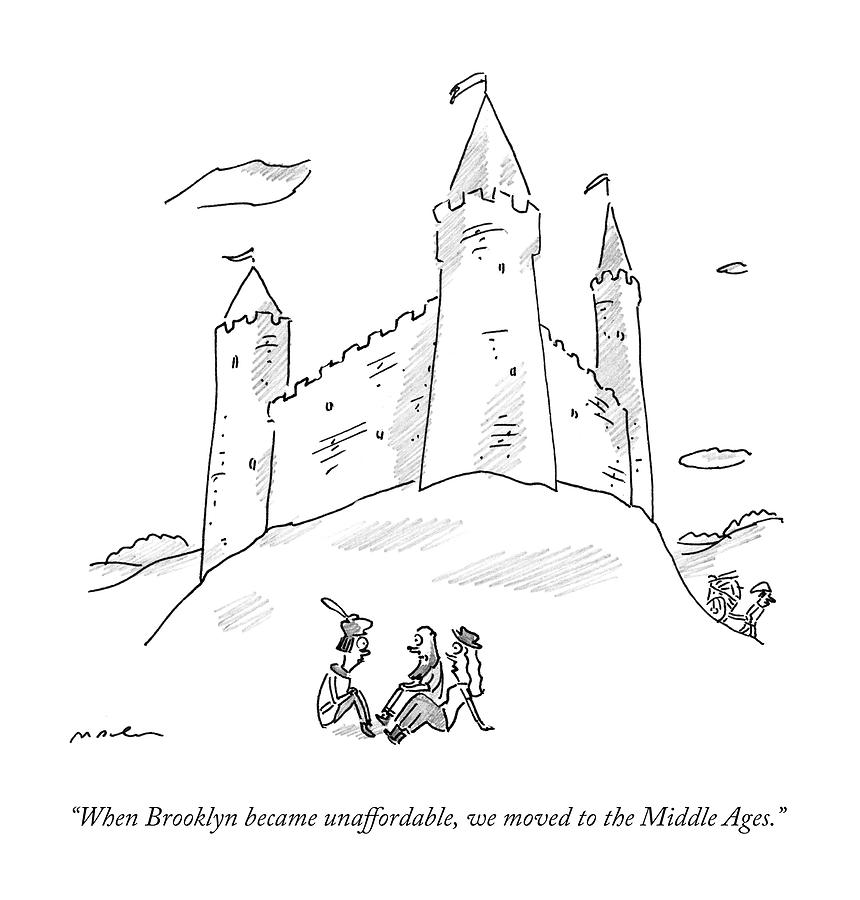 When Brooklyn Became Unaffordable Drawing by Michael Maslin