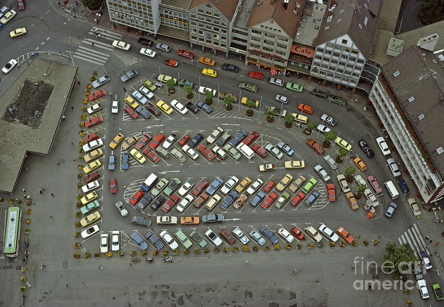 Cars Photograph - When Cars Were Colorful 1980s by David Davies