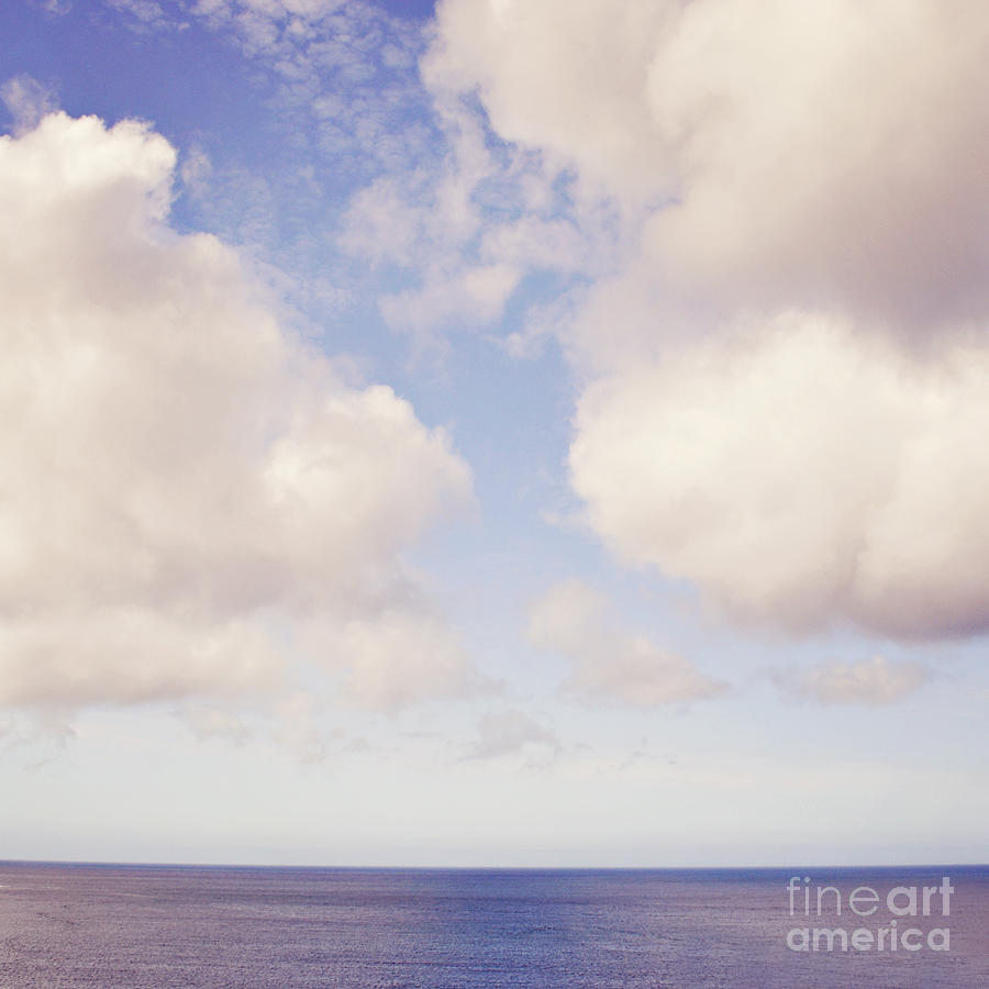 Sea Photograph - When Clouds Meet The Sea by Lyn Randle