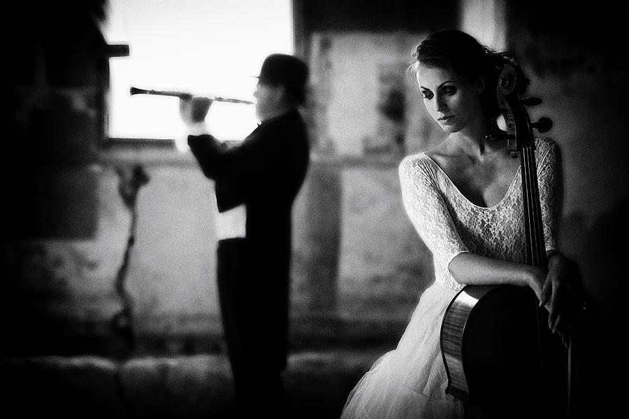 Music Photograph - When Even Music ... by Roswitha Schleicher-schwarz