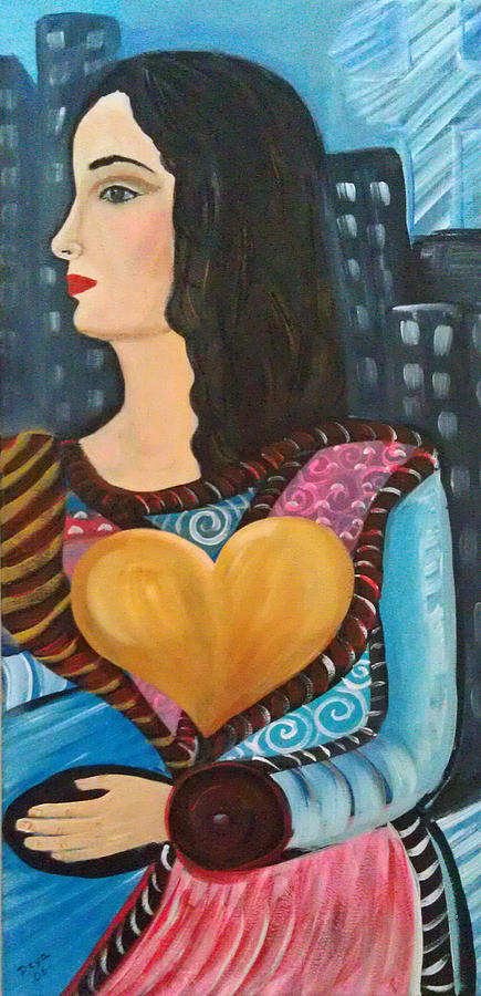 Abstract Figurative Painting - When Gaby Move Out by Deyanira Harris