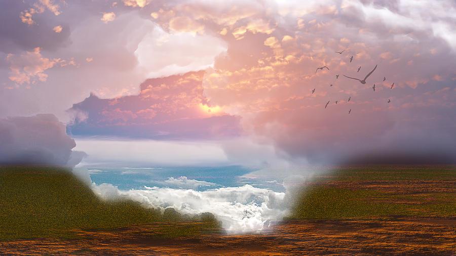 When Heaven Breaks - Surrealism Digital Art