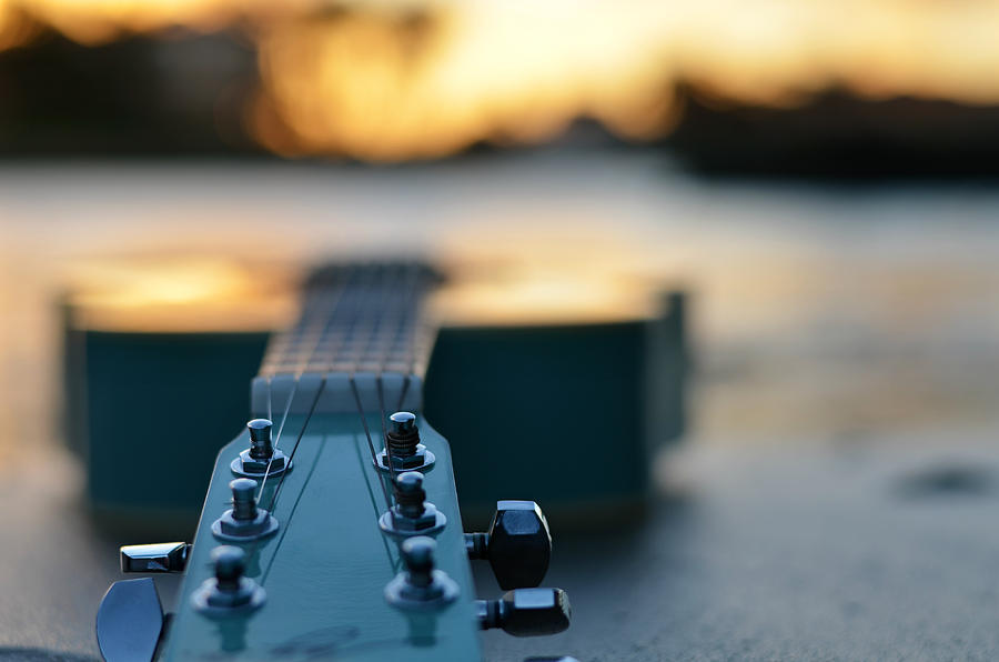 Guitar Photograph - When I Look To The West by Laura Fasulo