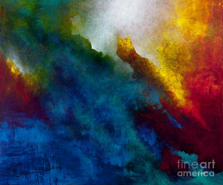 Abstract Painting - When I Saw Them Fly by Elizabeth Weber