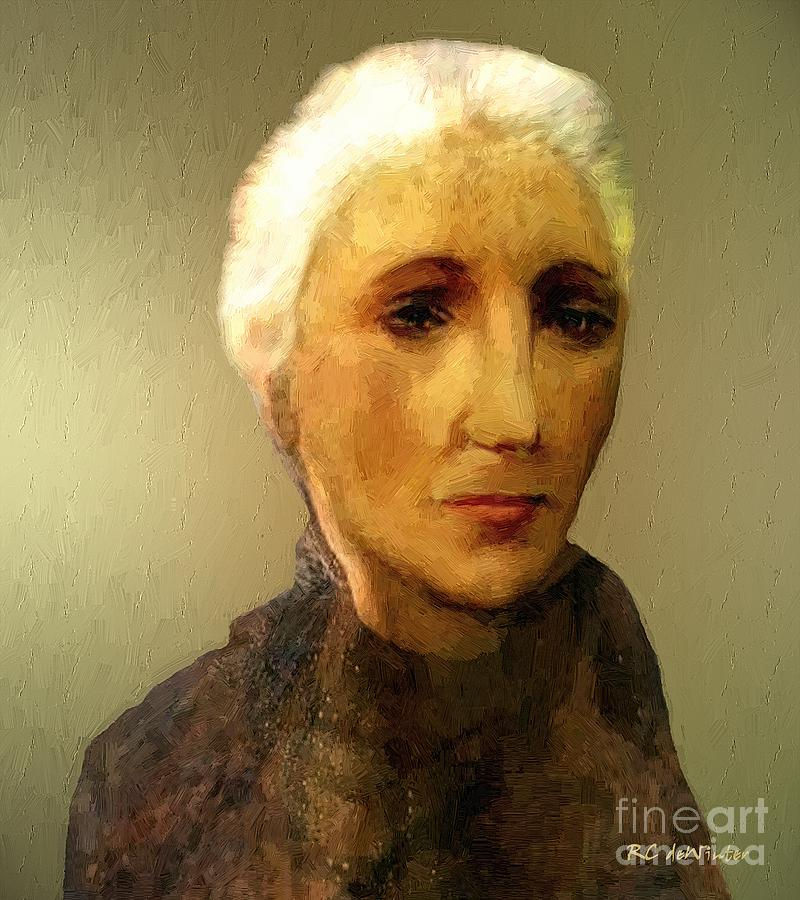 Woman Painting - When Im Sixty-four by RC DeWinter