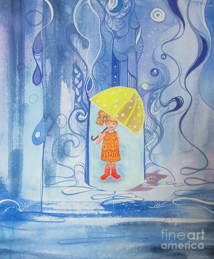 Rain Painting - When It Rains It Pours by Maya Simonson