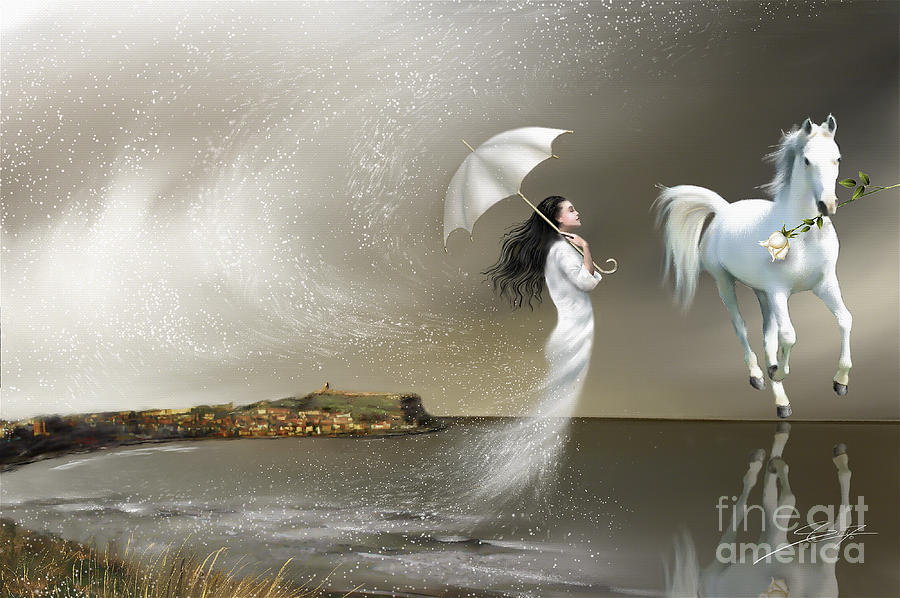 Surrealism Painting - When It Snows In Scarborough by S G