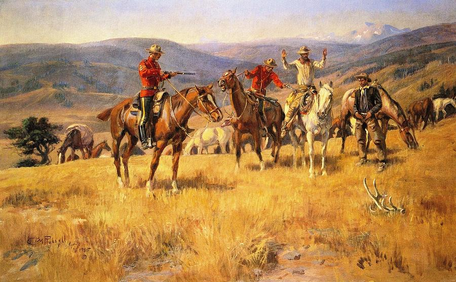 Charles Russell Digital Art - When Law Dulls The Edge Of Chance by Charles Russell