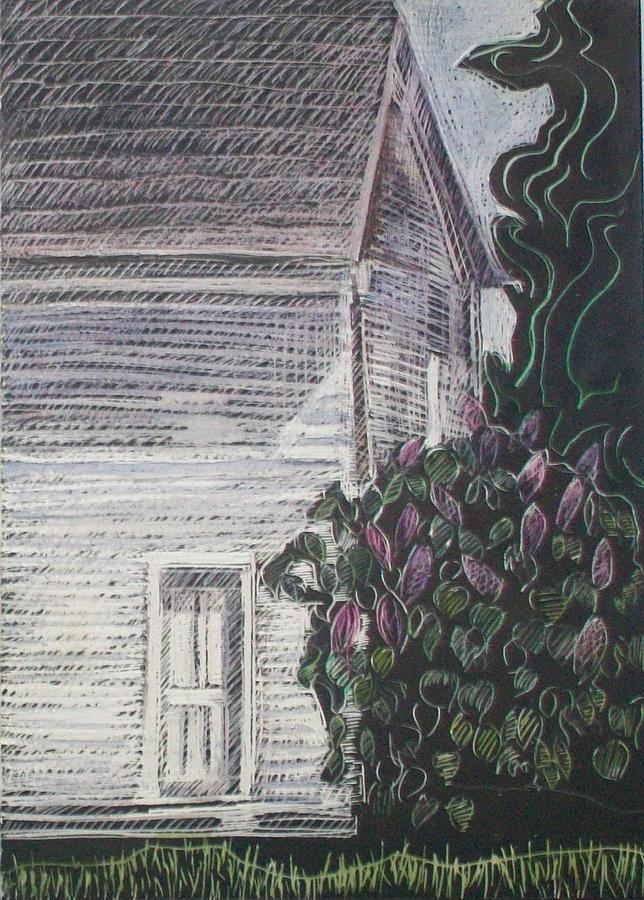 Maine Landscape Drawing - When Lilacs Last... by Grace Keown