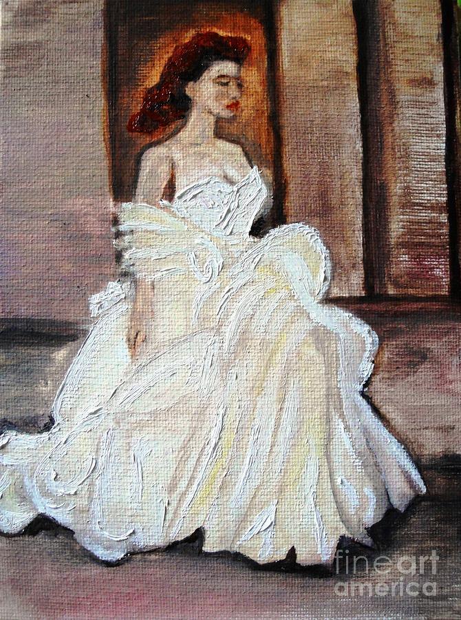 Lady Painting - When Lovely Women II by Helena Bebirian