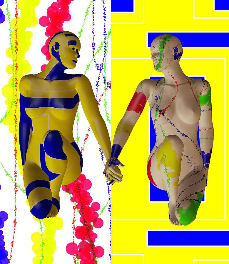 Modern Digital Art - When Modern Met Abstract  by Sir Josef - Social Critic -  Maha Art