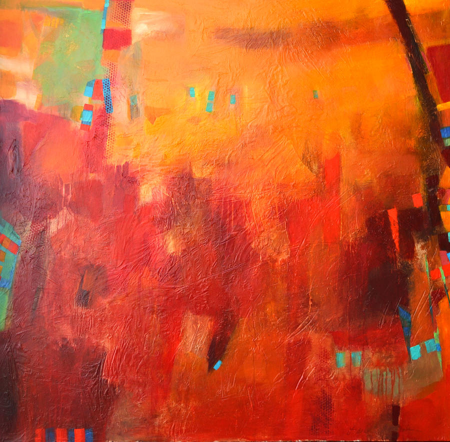 Abstract Painting - When Morning Breaks by Filomena Booth