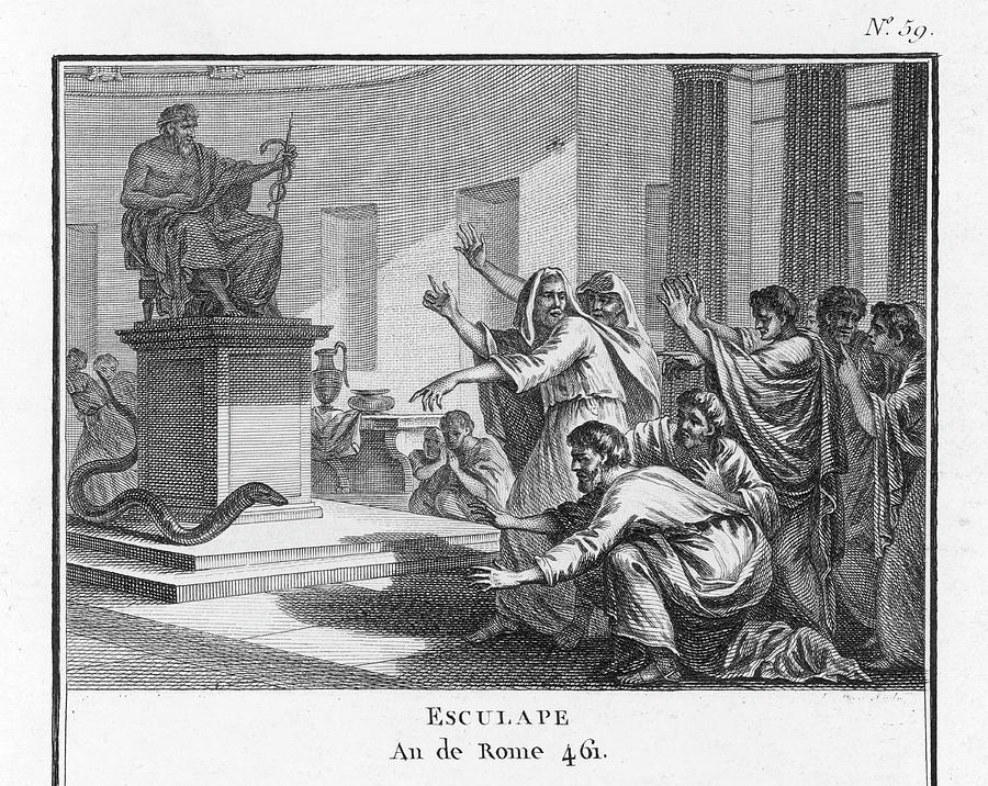 Asklepios Drawing - When Plague-afflicted Romans  Come by Mary Evans Picture Library