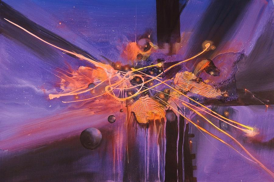 Abstract Expressionism Painting - When Planets Align by Tom Shropshire