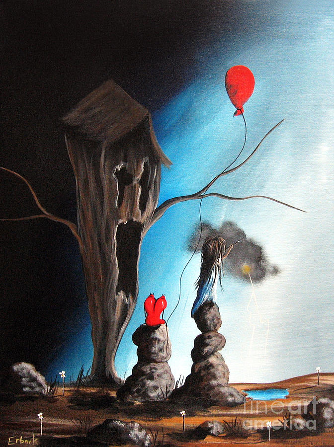Surreal Painting - When Shes Mad By Shawna Erback by Shawna Erback