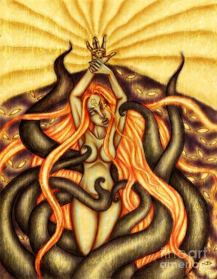 Void Digital Art - When Spirits Rise And Demons Dance by Coriander  Shea